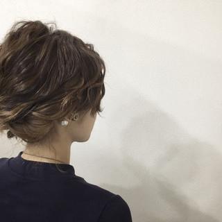 ヘアアレンジ ミディアム 編み込み ショート ヘアスタイルや髪型の写真・画像