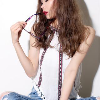 外国人風 ストリート ハイライト グラデーションカラー ヘアスタイルや髪型の写真・画像