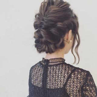 ミディアム パーティ ヘアアレンジ 大人女子 ヘアスタイルや髪型の写真・画像