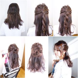 大人かわいい セルフヘアアレンジ ナチュラル 大人女子 ヘアスタイルや髪型の写真・画像