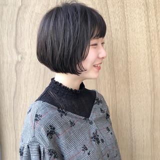ナチュラル ショートボブ ミニボブ ハンサムショート ヘアスタイルや髪型の写真・画像