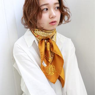 透明感 女子力 エフォートレス パーマ ヘアスタイルや髪型の写真・画像