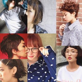 モード ショート ハイライト グラデーションカラー ヘアスタイルや髪型の写真・画像 ヘアスタイルや髪型の写真・画像