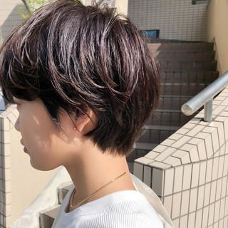 ショート ナチュラル ベリーショート ハンサムショート ヘアスタイルや髪型の写真・画像