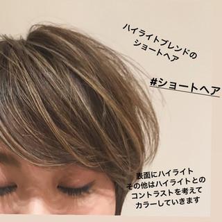 ハイライト ショート ショートボブ マッシュショート ヘアスタイルや髪型の写真・画像