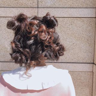 アウトドア 簡単ヘアアレンジ デート ミディアム ヘアスタイルや髪型の写真・画像
