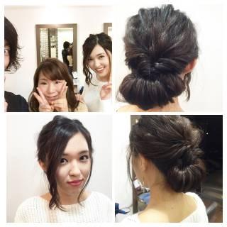 成人式 ショート 結婚式 まとめ髪 ヘアスタイルや髪型の写真・画像