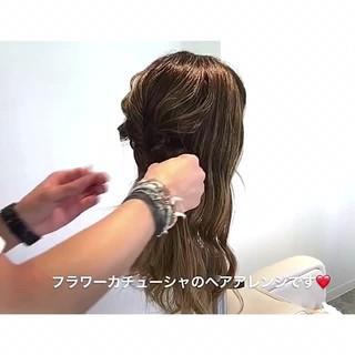 ヘアアレンジ 簡単ヘアアレンジ フェミニン ロング ヘアスタイルや髪型の写真・画像