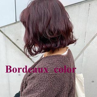 ボルドー ピンクラベンダー ラベンダーアッシュ ブルーラベンダー ヘアスタイルや髪型の写真・画像