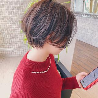 ナチュラル ミニボブ ショートボブ ショートヘア ヘアスタイルや髪型の写真・画像
