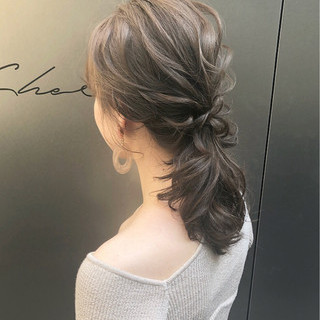 デート 簡単ヘアアレンジ ナチュラル ポニーテール ヘアスタイルや髪型の写真・画像