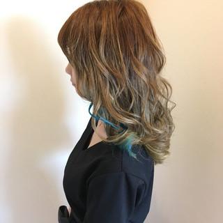 艶髪 春 セミロング 外国人風カラー ヘアスタイルや髪型の写真・画像