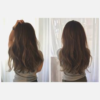 ストリート かき上げ前髪 グラデーションカラー 外国人風 ヘアスタイルや髪型の写真・画像