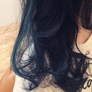 ストリート ネイビー 黒髪 暗髪 ヘアスタイルや髪型の写真・画像