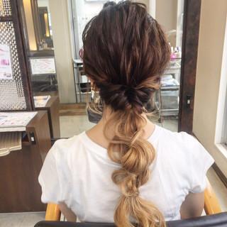 グラデーションカラー くせ毛風 ヘアアレンジ ショート ヘアスタイルや髪型の写真・画像 ヘアスタイルや髪型の写真・画像