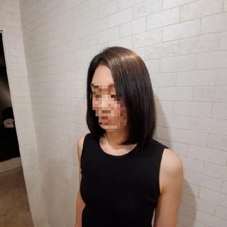 縮毛矯正ストカール ミディアム 縮毛矯正 ストカール ヘアスタイルや髪型の写真・画像