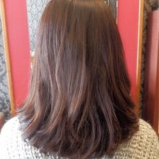 アンニュイ ウェーブ デジタルパーマ ナチュラル ヘアスタイルや髪型の写真・画像