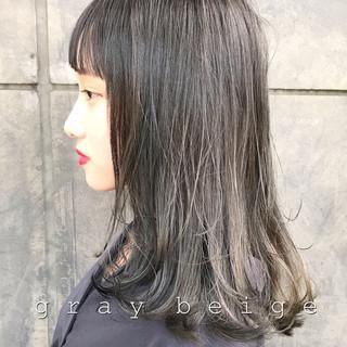 ストリート 暗髪 ブルーブラック ネイビー ヘアスタイルや髪型の写真・画像