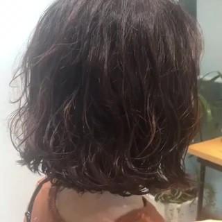 ガーリー ボブ パーマ ヘアスタイルや髪型の写真・画像