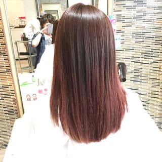 ハイライト ストリート グラデーションカラー ピンク ヘアスタイルや髪型の写真・画像