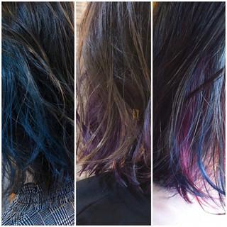 グラデーションカラー インナーカラー 外国人風カラー ロング ヘアスタイルや髪型の写真・画像
