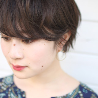 ゆるふわ パーマ ブラウン 外国人風 ヘアスタイルや髪型の写真・画像