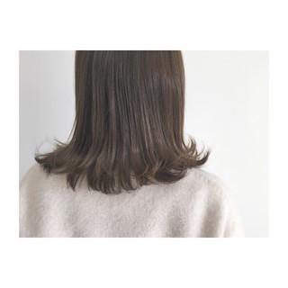 ボブ アッシュ ストリート 外ハネ ヘアスタイルや髪型の写真・画像