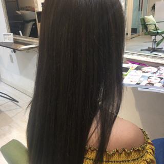 秋 ガーリー 外国人風カラー セミロング ヘアスタイルや髪型の写真・画像