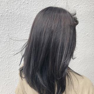 オフィス ナチュラル ミディアム 透明感 ヘアスタイルや髪型の写真・画像