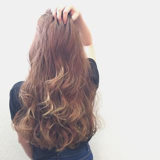 グラデーションカラー ロング 外国人風 大人かわいい ヘアスタイルや髪型の写真・画像