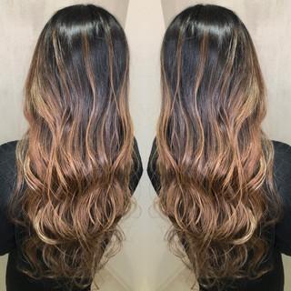 ナチュラル グラデーションカラー 外国人風カラー 簡単ヘアアレンジ ヘアスタイルや髪型の写真・画像
