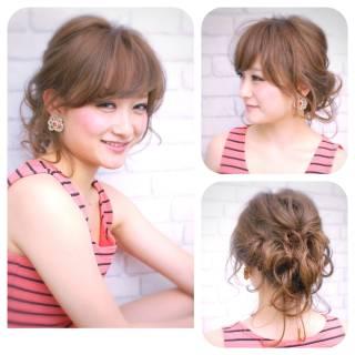 アップスタイル コンサバ ヘアアレンジ ショート ヘアスタイルや髪型の写真・画像