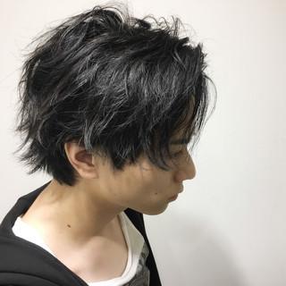 ナチュラル パーマ メンズ 黒髪 ヘアスタイルや髪型の写真・画像