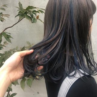 ミディアム ガーリー ハイライト ダブルカラー ヘアスタイルや髪型の写真・画像