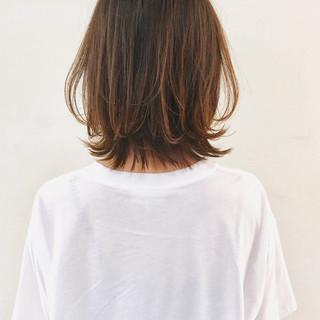 外ハネボブ ベージュ 外ハネ ナチュラル ヘアスタイルや髪型の写真・画像