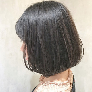 ミニボブ ボブ 前下がりボブ 切りっぱなしボブ ヘアスタイルや髪型の写真・画像 | 中村圭太郎 / K-two Esola 池袋【ケーツー エソラ イケブクロ】