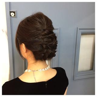 ショート ねじり 結婚式 編み込み ヘアスタイルや髪型の写真・画像 ヘアスタイルや髪型の写真・画像