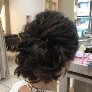 波ウェーブ ブライダル 結婚式 アップスタイル ヘアスタイルや髪型の写真・画像 ヘアスタイルや髪型の写真・画像