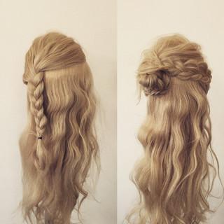大人かわいい 簡単ヘアアレンジ ロング フェミニン ヘアスタイルや髪型の写真・画像