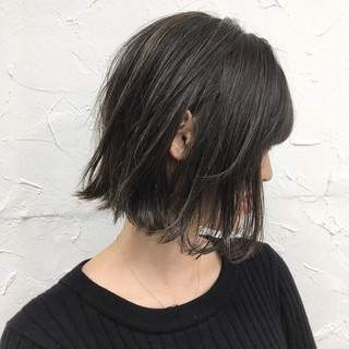 ボブ 透明感 秋 ハイライト ヘアスタイルや髪型の写真・画像 ヘアスタイルや髪型の写真・画像