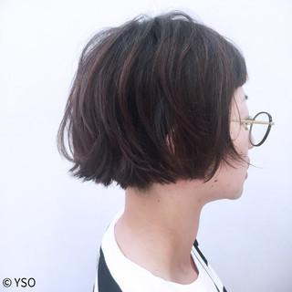 外国人風 切りっぱなし ストリート 大人かわいい ヘアスタイルや髪型の写真・画像