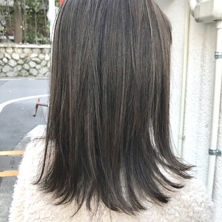 ハイライト アッシュ 外国人風 グレージュ ヘアスタイルや髪型の写真・画像
