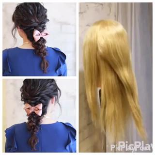 ロング ヘアアレンジ ゆるふわ 簡単ヘアアレンジ ヘアスタイルや髪型の写真・画像 ヘアスタイルや髪型の写真・画像