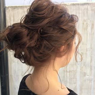 ロング ガーリー 簡単ヘアアレンジ パーティ ヘアスタイルや髪型の写真・画像
