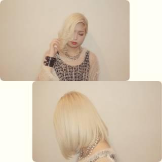 ガーリー セミロング 渋谷系 外国人風 ヘアスタイルや髪型の写真・画像