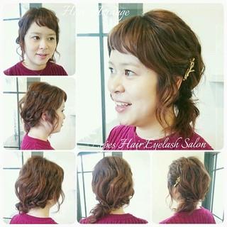 ミディアム パーティ ショート ヘアアレンジ ヘアスタイルや髪型の写真・画像 ヘアスタイルや髪型の写真・画像
