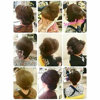 和装 セミロング お祭り ゆるふわ ヘアスタイルや髪型の写真・画像 ヘアスタイルや髪型の写真・画像