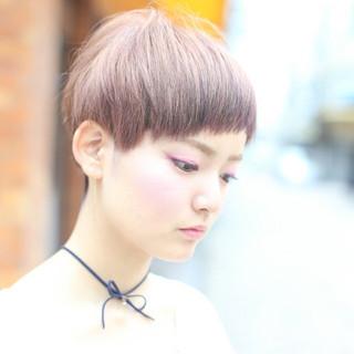 ピンクブラウン アプリコット ブラウン ガーリー ヘアスタイルや髪型の写真・画像