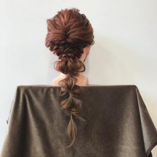 デート 結婚式 ヘアアレンジ 簡単ヘアアレンジ ヘアスタイルや髪型の写真・画像