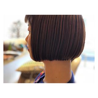 ショートボブ ガーリー ボブ ヘアスタイルや髪型の写真・画像